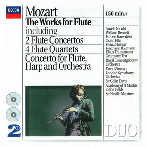 Aurele Nicolet, Hubert Barwahser, William Bennett - Wolfgang Amadeus Mozart: The Works for Flute (1994) 2CDs