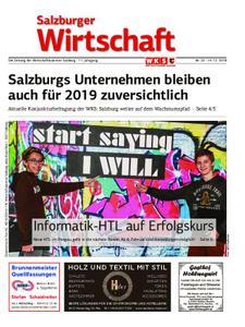 Salzburger Wirtschaft – 28. Dezember 2018