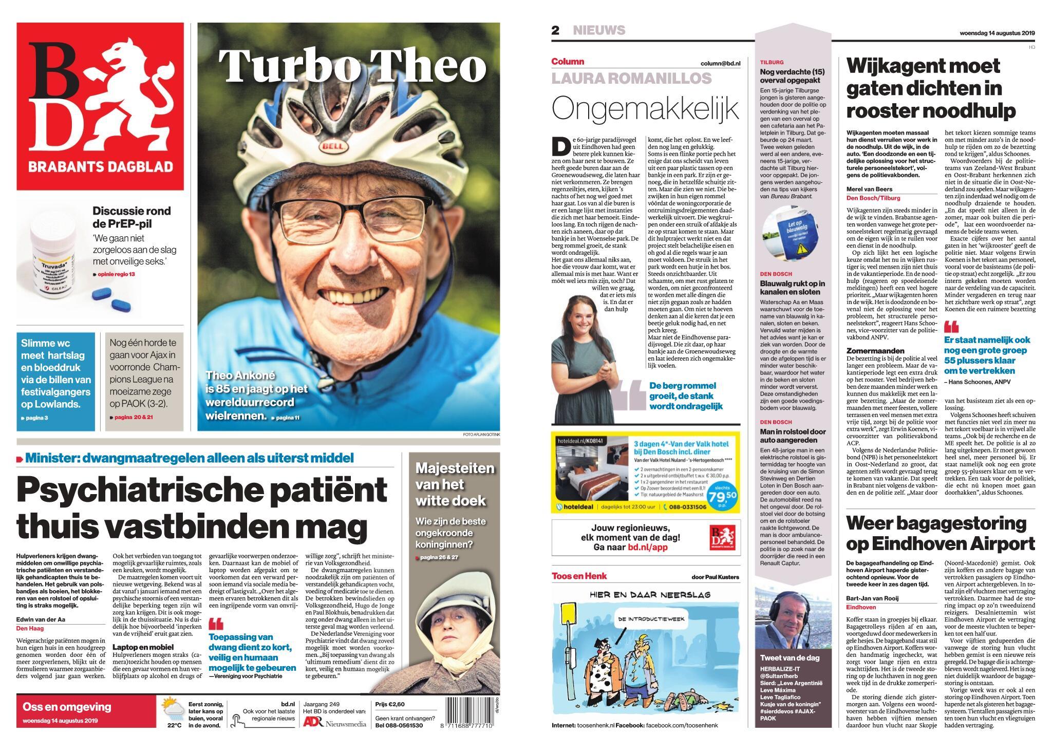 Brabants Dagblad - Oss – 14 augustus 2019