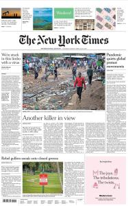 International New York Times - 25-26 April 2020