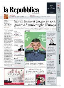 la Repubblica - 9 Settembre 2018