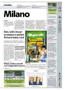 la Repubblica Milano - 12 Settembre 2018