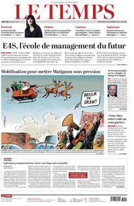 Le Temps - 18 décembre 2019