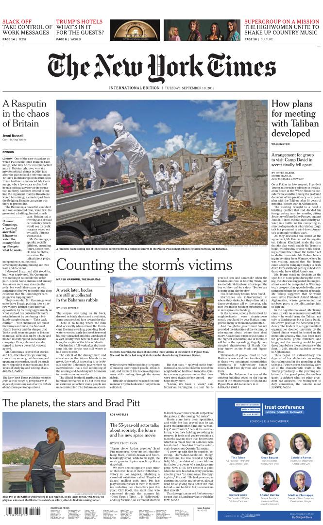 International New York Times - 10 September 2019
