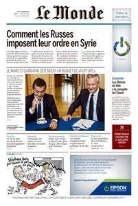 Le Monde du Mardi 19 Septembre 2017