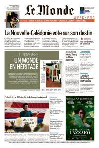 Le Monde du Samedi 3 Novembre 2018