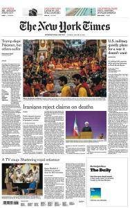International New York Times - 16 January 2018