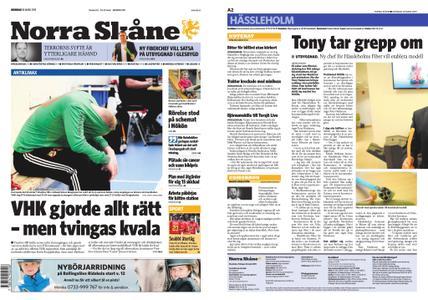 Norra Skåne – 18 mars 2019