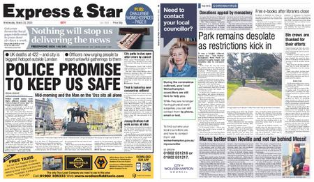 Express and Star City Edition – March 25, 2020