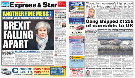 Express and Star Sandwell Edition – January 16, 2019
