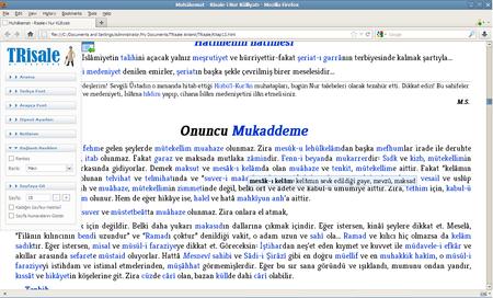 TRisale: Risale-i Nur Külliyatı 1.0