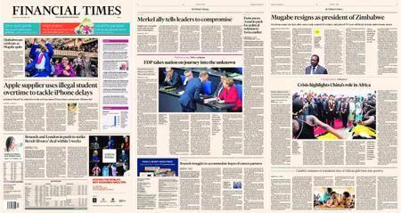 Financial Times Europe – 22 November 2017