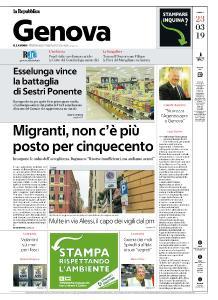 la Repubblica Genova - 23 Marzo 2019