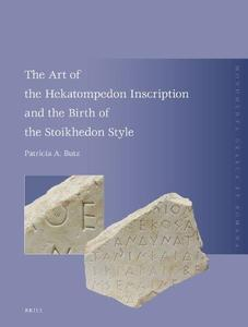 The Art of the Hekatompedon Inscription and the Birth of the Stoikhedon Style