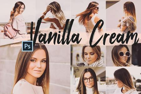 5 Vanilla Cream Actions, ACR and LUT presets - 305659