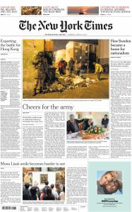 International New York Times - 15 August 2019
