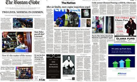 The Boston Globe – April 19, 2018