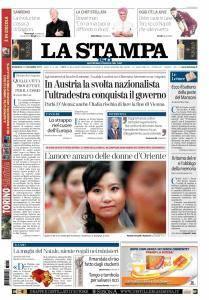 La Stampa Torino Provincia e Canavese - 17 Dicembre 2017