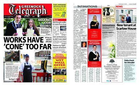 Greenock Telegraph – August 10, 2018