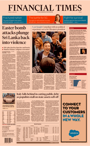 Financial Times Europe – 22 April 2019