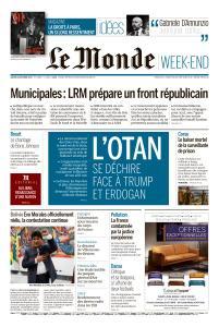 Le Monde du Samedi 26 Octobre 2019