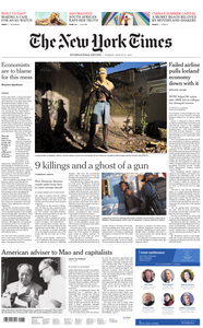 International New York Times - 27 August 2019