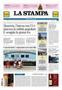 La Stampa Imperia e Sanremo - 21 Dicembre 2018