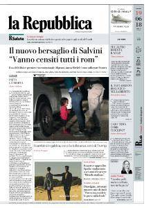 la Repubblica - 19 Giugno 2018