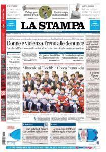 La Stampa Torino Provincia e Canavese - 21 Gennaio 2018