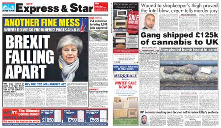Express and Star City Edition – January 16, 2019
