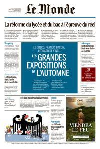Le Monde du Mardi 3 Septembre 2019