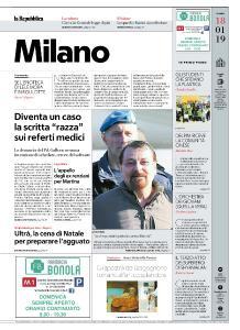 la Repubblica Milano - 18 Gennaio 2019