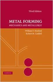 Metal Forming: Mechanics and Metallurgy Ed 3