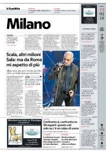 la Repubblica Milano - 13 Febbraio 2018