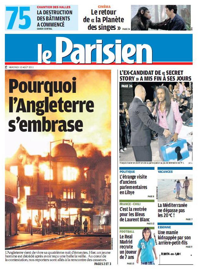 LE PARISIEN (10 Août 2011)