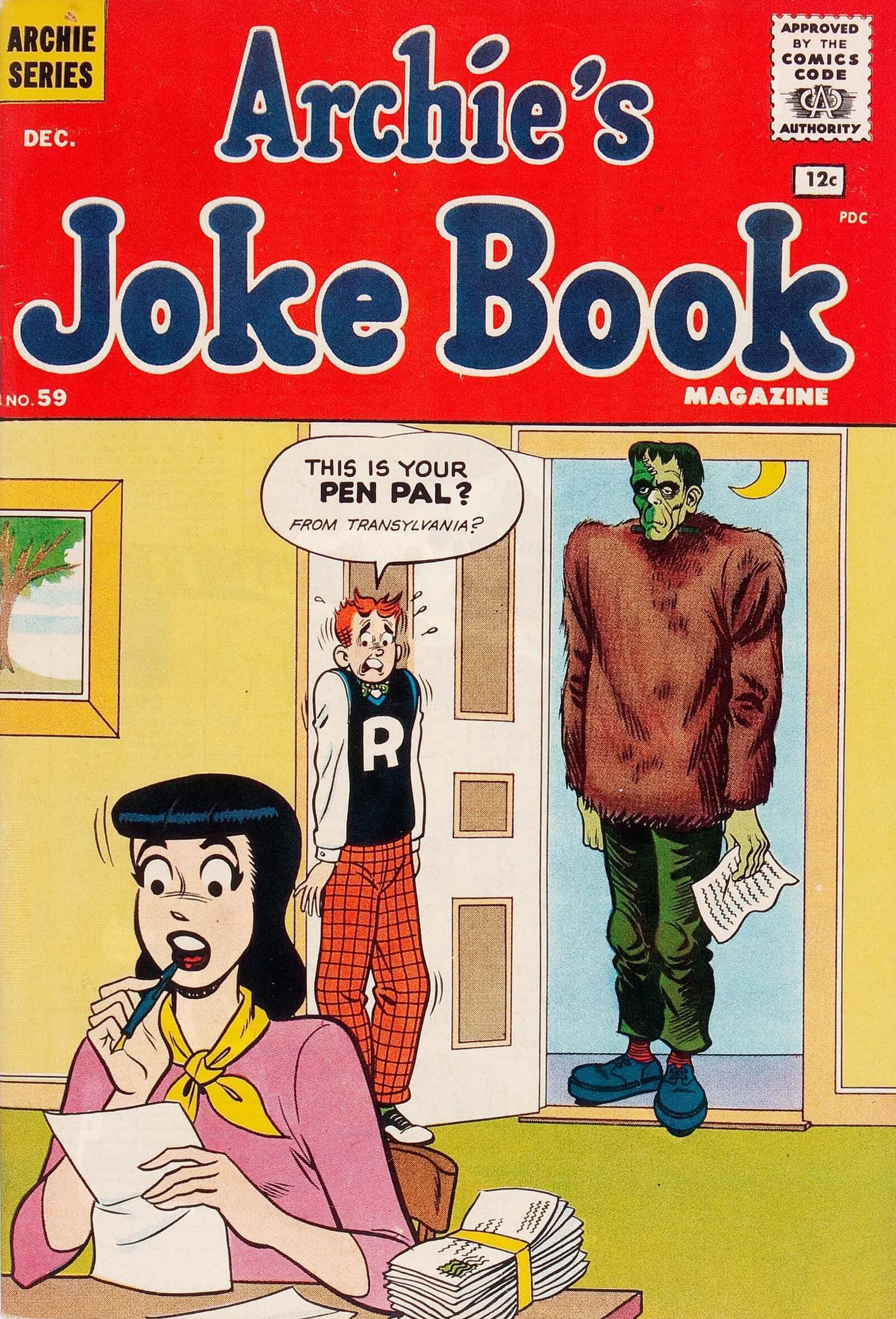 Archies Joke Book Magazine 059 1961