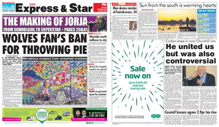 Express and Star City Edition – February 16, 2019