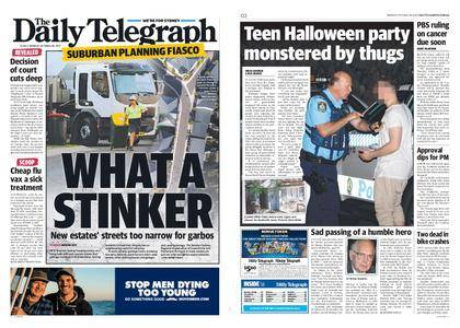 The Daily Telegraph (Sydney) – October 30, 2017