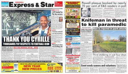 Express and Star Sandwell Edition – January 31, 2018
