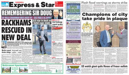 Express and Star Sandwell Edition – October 12, 2018