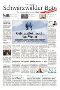 Schwarzwälder Bote St. Georgen, Triberg, Furtwangen - 11. Januar 2019