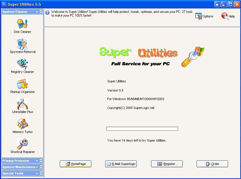 Super Utilities Pro ver. 6.35