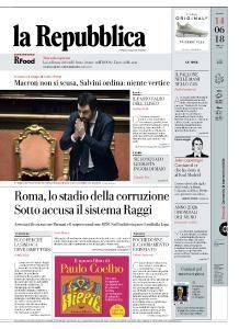 la Repubblica - 14 Giugno 2018