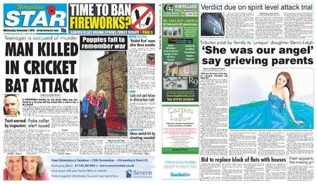 Shropshire Star Shrewsbury Edition – November 07, 2018