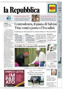 la Repubblica - 27 Febbraio 2019