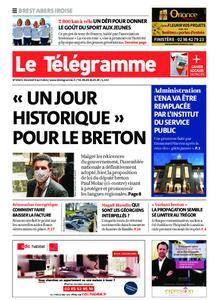 Le Télégramme Brest Abers Iroise – 09 avril 2021