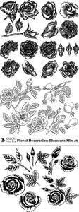 Vectors - Floral Decoration Elements Mix 46