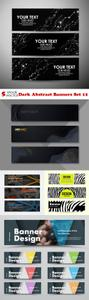 Vectors - Dark Abstract Banners Set 12