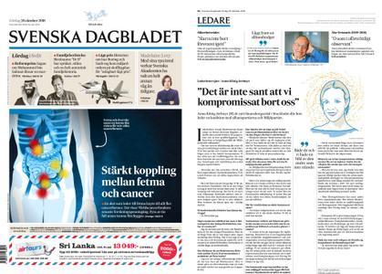 Svenska Dagbladet – 20 oktober 2018