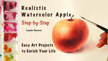 How to Paint a Realistic Apple in Watercolor – Step by Step